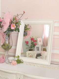 Shabby Cottage Chic White Wall Mirror Country
