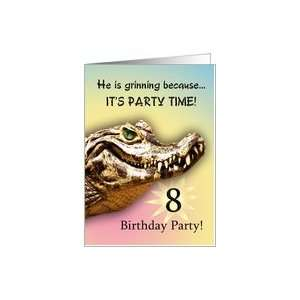 Party Invitiation. A big alligator smile for you Card: Toys & Games