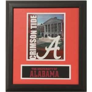 Alabama Crimson Tide 13 X 15 Crimson Campus Framed