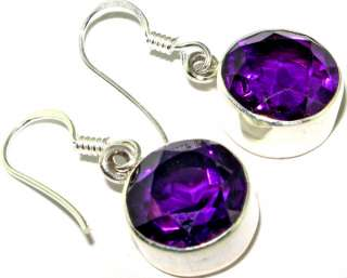 Latest collection Lovely Amethyst .925 STERLING SILVER Earrings 1.1