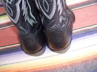Mens Tony Lama 8849 Black Iguana Lizard Western Cowboy Boots 9 D (b624