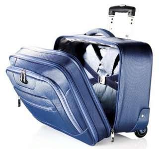 New Samsonite Blue Wheeled Laptop Case Rolling Business Overnight
