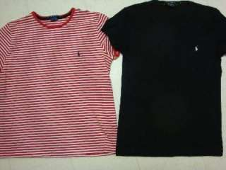 Lot of 2 RALPH LAUREN POLO Womens S/S Shirts MEDIUM * Crew neck EUC