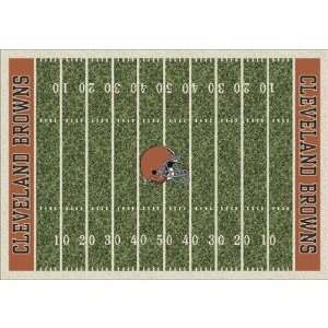 /1024 NFL Homefield Cleveland Browns Football Rug Size 54 x 78