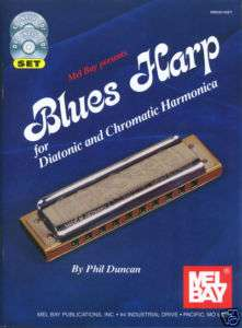 BLUES HARP DIATONIC CHROMATIC HARMONICA DVD + BOOK + CD