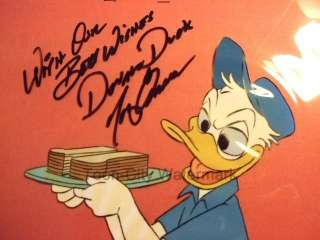 Donald Duck Disney Art Corner Production Cel SIGNED Voice Tony Anselmo