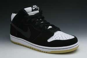 Nike Dunk Mid Pro SB Mens Sneakers In Black/White