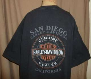 Shirt SAN DIEGO Vtg OLD DUDES RIDE HARDER Motorcycle Mens XXL