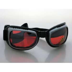 Cyber Gothic Goggles Sunglasses Rave Rivet Technno Red