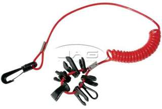 OUTBOARD BOAT MOTOR KILL SWITCH KEYS/LANYARD UNIVERSAL
