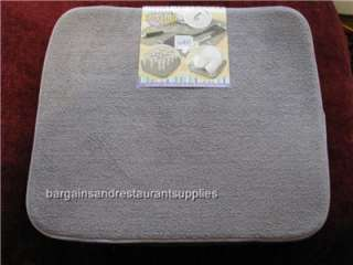 Mat Grey with Light Grey Trim Microfiber, Absorbant 16 x 18