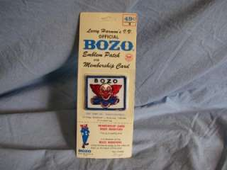 Larry Harmons TV Bozo Clown Membership Patch & Card MIB