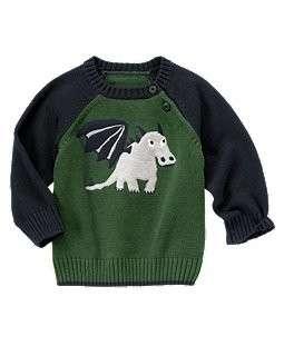 Gymboree NWT Dragon Academy Long Sleeve Dragon Sweater 18 24 2T