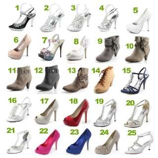 Flower Wedge Diamante Wedding Party Bridal Heel Shoes UK 5