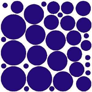 34 ROYAL BLUE POLKA DOTSWALL STICKERS DECALS ART DECOR