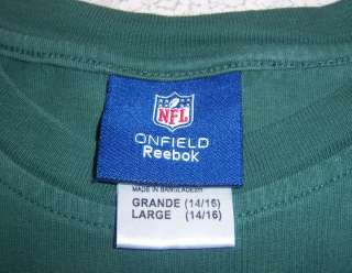 York Jets NFL Long Sleeve Shirt Youth Large Reebok AFC West