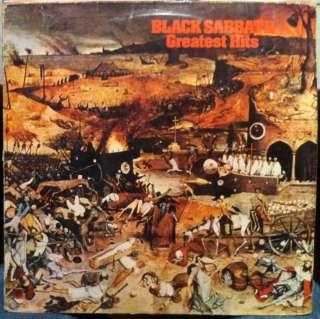 BLACK SABBATH greatest hits LP VG NEL 6009 Vinyl 1977 Record Holland