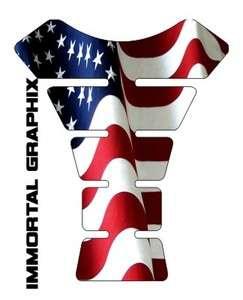 United States USA Waving Flag Gel Motorcycle Tank pad tankpad