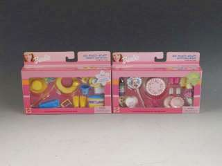 20 Pc. Barbie Doll Clothing Accessories Food Lot NIB