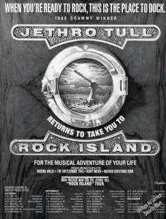 1989 Jethro Tull Rock Island Vintage Album & Tour Schedule Ad