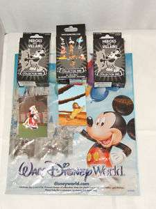 WALT DISNEY WORLD   HEROES VS. VILLIANS   2 PINS ON CARDS