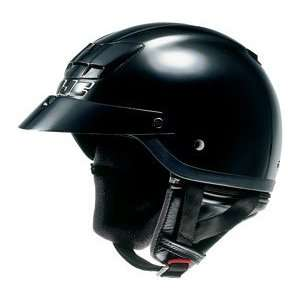 HJC AC 2M Open Face Motorcycle Helmet Black Small