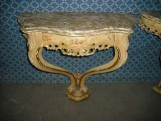 PAINTED ITALIAN MARBLE TOP VINTAGENIGHT STANDS 09IT093B |