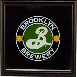 Brooklyn Brewery Bar Wall Mirror   Beer Sign 12 x 12