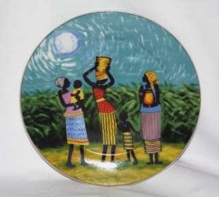 African American Female Cultural Plates NIB NICE