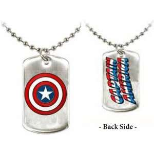 Marvel Comics Capt America Shield Mens Dog Tag Pendant