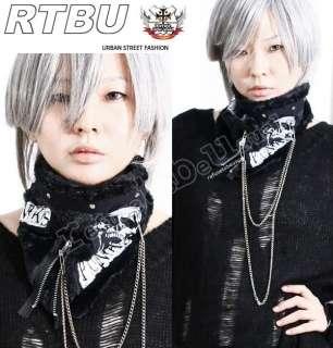 Visual Kei Punk Gothic Fleece FUR Neck Wrap/Scarf/Mask