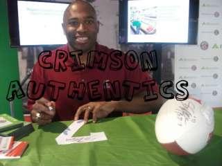 Shaun Alexander SIGNED Alabama Crimson Tide logo Football auto COA