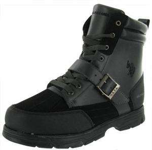 US Polo RAYCE Mens Gray Black Hiking Duck Boots
