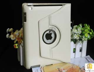 Rotating Stand Magnetic Smart Leather Case Cover F iPad 2 and iPad 3