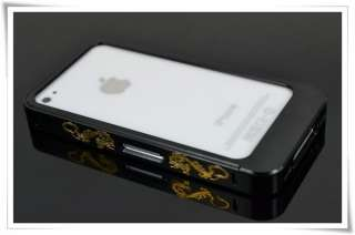 Aluminum Dragonmark Sliding No Screw Bumper Case Housing For iPhone 4