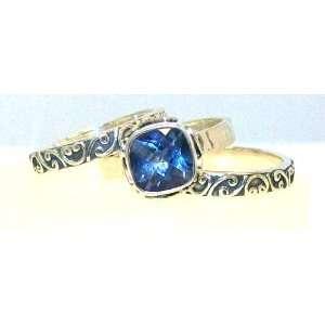 Sara Blaine Fine .925 Sterling Silver Iolite Topaz Ring