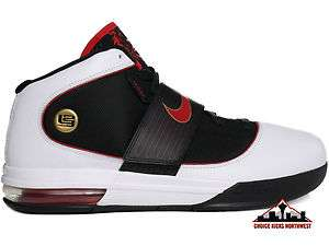 Nike Zoom Soldier IV Lebron James White/Black/Red Mens Basketball