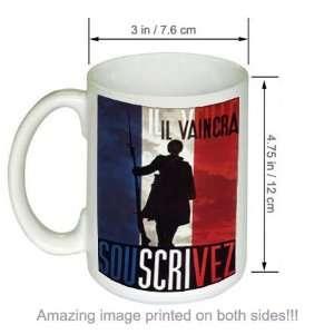 French WWii Army Military COFFEE MUG Il Vaincra