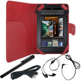 for  Kindle Fire   Folio Carry Case Cover/USB Cable/Stereo