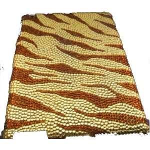 Brown & Gold Zebra Crystal & Rhinestone Ipad 2 Case By