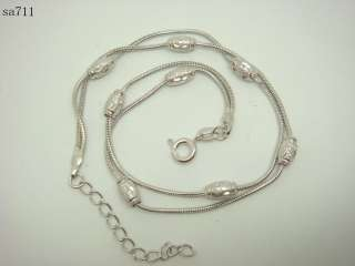 Varios New Fashion 925 Sterling Silver dangle chains with charm