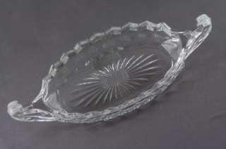 Elegant Depression Fostoria American Glass 8.5 Relish Boat