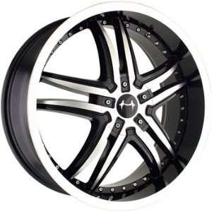 Mazzi Smoke 20x8.5 Machined Black Wheel / Rim 5x112 & 5x115 with a