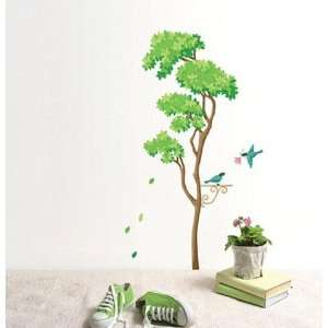 TREE & BIRD Deco Mural Art Wall Paper Sticker SWST 20