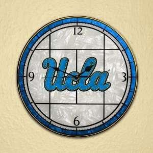 University of California Los Angeles Art Glass Clock: Home