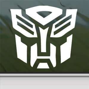 TRANSFORMERS White Sticker AUTOBOT LOGO MOVIE Laptop Vinyl