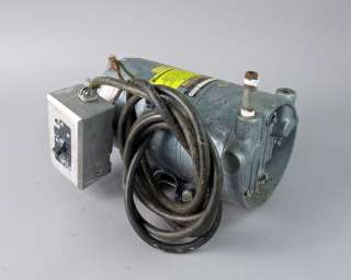 Gast 0522 V103 G18DX AC Vacuum Pump w/ GE Motor and Foot Pedal   *FOR