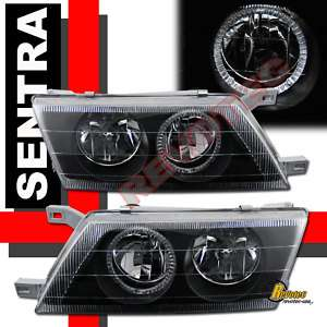 95 98 NISSAN SENTRA 200SX HALO HEAD LIGHTS LAMPS 96 97