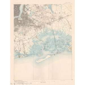 USGS TOPO MAP BROOKLYN QUAD NEW YORK (NY) 1891 Home