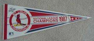 1987 ST LOUIS CARDINALS WORLD SERIES PENNANT Unsold Stk